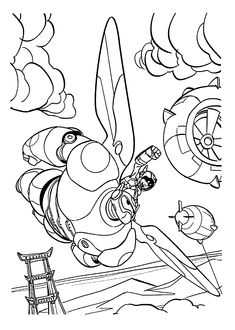 baymax coloring pages for kids - photo#14