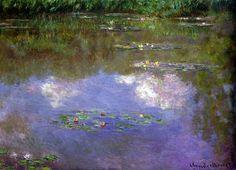 Клод Моне - Water Lilies, The Clouds, 1903. Клод Оскар Моне