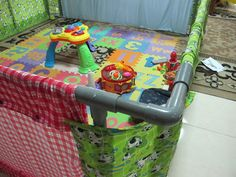 We made a playpen for our little guy last month but I never found time to post this up here. Using PVC pipes, we sawed, assembled, a...