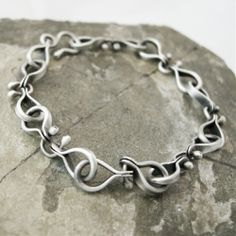 Silver Bracelet via Cold Feet Studio. Click on the image to see more!