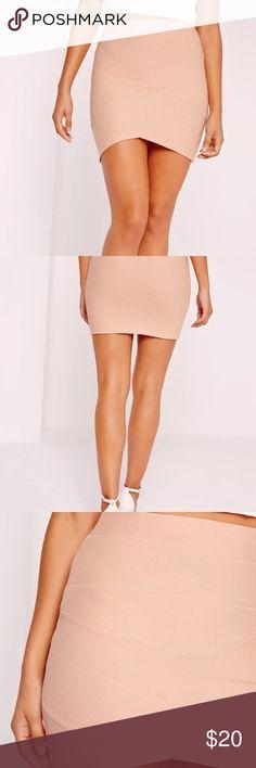 Missguided Bandage skirt Nude Petite Asymmetric Missguided Sexy Bandage skirt Nude Petite Asymmetric 6 NWT Missguided Skirts Mini