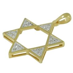This gold and silver Star of David Necklace Sparkles with the particular brilliance of diamonds. Crafted from gold, silver plus 18 cut diamonds, this Israeli jewelry piece is classic and expertly crafted as Jewish jewelry. A Jewish star necklace will be a spectacular addition in even an extravagant collection of Jewelry!