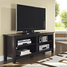 """TV Stand Furniture Media Center Home Theater Flat Storage Shelves Up To 60"""" Home #Modern"""