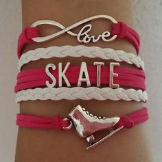 Skate bracelet ice skate bracelet skating shoes by Kitspaperworld Skating Rink, Roller Skating, Figure Skating Quotes, Street Hockey, Gymnastics Workout, Punk Princess, Inline Skating, Ice Ice Baby, Zoella