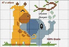 Cross Stitch Borders, Cross Stitch Baby, Cross Stitch Animals, Modern Cross Stitch Patterns, Cross Stitch Charts, Cross Stitch Designs, Cross Stitching, Cross Stitch Embroidery, Embroidery Patterns