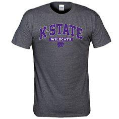 Men's Kansas State Wildcats Next Generation Arch Tee, Med Grey