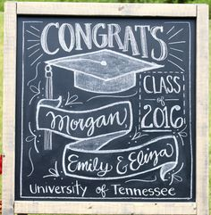 Graduation Party chalkboard decoration idea : Miss Welden