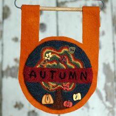 Buttoned up for Autumn Punch Needle Kit | Myrtle Grace Motifs