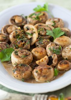 Mushrooms with Garlic & Parsley - Spicy & Succulent Appetizer at Cooking Melangery
