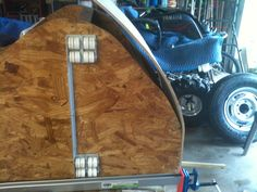 I used Gorilla glue and a nail gun to secure the plywood in place, and clamps during the drying process.