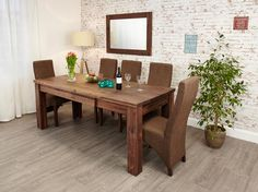 House Adore Baumhaus Mayan Walnut Extending Dining Table £549.00