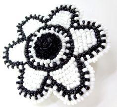 Black and White Pin Up Hair Clip alternative fashion gothic