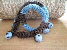 Girocollo \ bracciale in cotone con perline