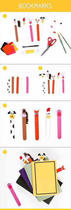 Save this DIY for a rainy day... Let the kids check out a book from the library and create these @popsicle bookmarks as fun placeholders.