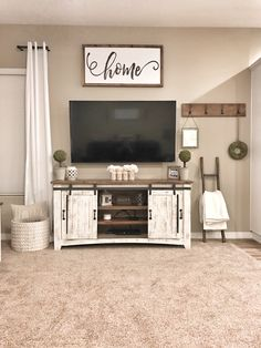 Farmhouse tv stand decor