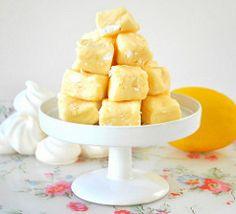 Home made Lemon meringue fudge