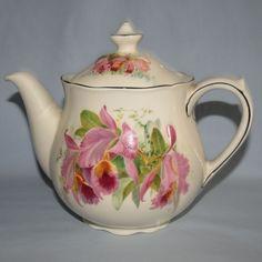 Royal Doulton Orchids teapot D5400 - Royal Doulton Seriesware