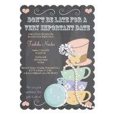 Mad Hatter Bridal Shower Invitations from Zazzle.com
