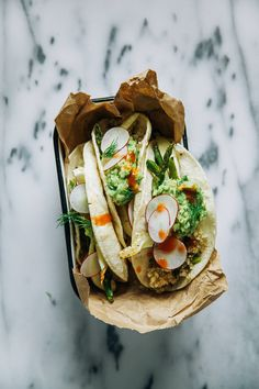 Roasted Spring Vegetable + Quinoa Tacos
