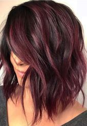 34 Latest Hair Color Ideas for 2019 - Get Your Hairstyle Inspiration for Next Se. - 34 Latest Hair Color Ideas for 2019 – Get Your Hairstyle Inspiration for Next Season – Latest H - Hair Color Shades, Hair Color Purple, Brown Hair Colors, Purple Tinted Hair, Winter Hair Colors, Red Velvet Hair Color, Black Cherry Hair Color, Subtle Hair Color, Pretty Hair Color