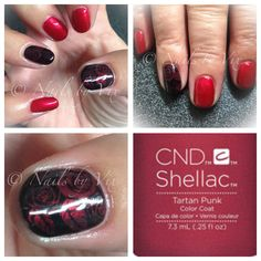 CND Shellac in Tartan Punk from the Contradictions Collection with Blackpool and Moyou London stamping