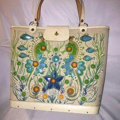 "Vintage Enid Collins ""Sea Garden II"" purse Cool jem purse,real wood bottom,very elegant,flashy,girly.EUC Vintage Enid Collins  Bags"