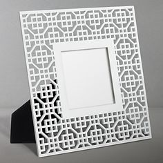 John Lewis New Japan Laser Cut Photo Frame, White, £5. I love geometric patterns and this is a bargain!