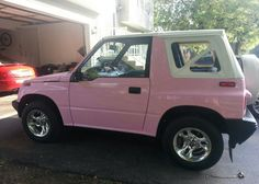 My beautiful 1995 Pink Geo! #Geo #Tracker #Pink #pinkgeotracker