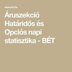 Áruszekció Határidős és Opciós napi statisztika - BÉT