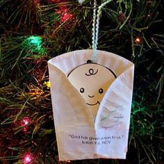 Baby Jesus craft ideas for kids, preschoolers, and toddlers. Nativity and Baby Jesus ideas, Christmas ornaments. Simple, easy Christ Child craft projects for adults and seniors. Nativity, crib, creche