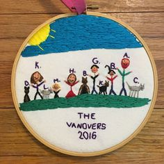 Custom Embroidered Childrens Artwork by FrontRoomStitches on Etsy