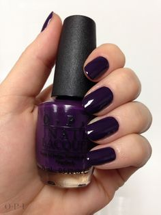Vant To Bite My Neck? #OPIEuroCentrale Nice deep purple color! Love it!