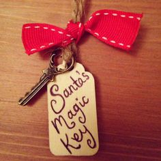 Santa's magic key Christmas decoration by caryscraftroom on Etsy, £2.50