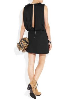 ACNE  Marlow chiffon-crepe and stretch-cotton dress - subtle back!