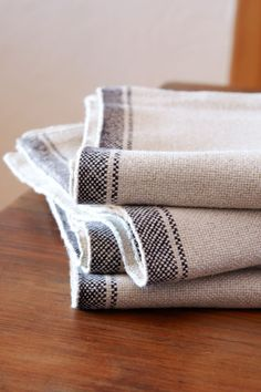 Barras double weave placemats. Woven on antique looms with a true selvedge. Durable and stylish.