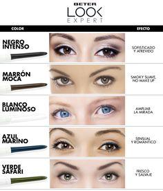 Te descubrimos que efecto puedes conseguir en tu mirada con los distintos colores de eyeliner Beter Look Expert http://www.beter.es/…/maquill…/eyeliners-y-lapices-de-ojos1/