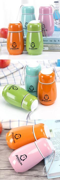 Creative Penguin 304 Stainless Steel Vacuum Insulation Drinkware Coffee Tea Mug Water Bottle