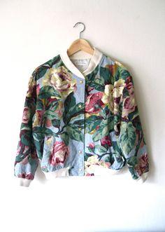 Floral jacket....cute!