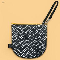 03819cd067378 BNTP Semicircle medium zipper pouch with strap - Fallindesign.com