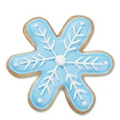 Color Flow icing makes these cookies oh-so-easy to decorate! Snowflakes cookies are cut with the 3-Pc. Christmas Cutter Set.