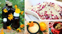 Fizzy bath powder & massage oil