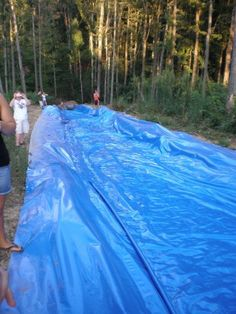 do a giant slip and slide with a tarp.. Oh yea this most definitely happening this summer!