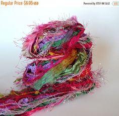 SALE FAIRY DANCE Adornment Fiber Art Bundle, Specialty Yarn Embellishment,  24 yards