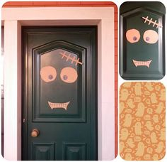Halloween frankenstein-door! :) (Cuts of cardboard)
