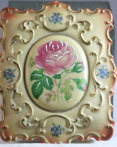 Vintage 1950s Rochelle China Floral Trinket Jewelry Box