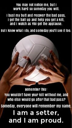Finally I am a setterYou can find Volleyball setter and more on our website.Finally I am a setter Volleyball Chants, Volleyball Posters, Volleyball Skills, Volleyball Setter, Volleyball Training, Volleyball Workouts, Coaching Volleyball, Volleyball Pictures, Volleyball Team Shirts