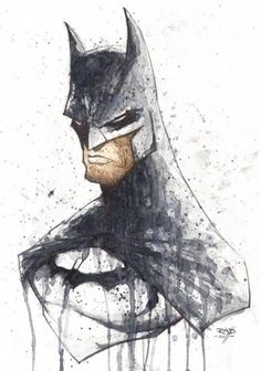 Watercolor Batman character illustrations by Rob Duenas. Nightwing, Batgirl, Catwoman, Batman Ninja, I Am Batman, Batman Art, Batman Painting, Batman Drawing, Batman Poster