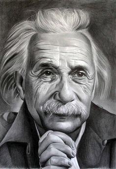 Albert Einstein 2 by donchild on DeviantArt Pencil Sketch Portrait, Pencil Sketch Drawing, Portrait Sketches, Art Drawings Sketches, Portrait Art, Drawing Ideas, Abstract Pencil Drawings, Beautiful Pencil Drawings, Realistic Pencil Drawings