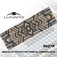 Peyote bracelet pattern peyote pattern par LunamisBeadsPatterns