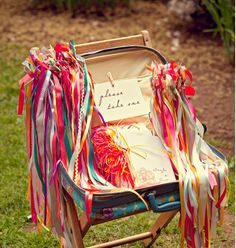 Whimsical ribbons 35 Incredibly Creative Ways To Add Color To Your Wedding